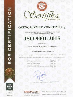 ozenc.com.tr iso 9001 belgesi toem kalite danışmanlık